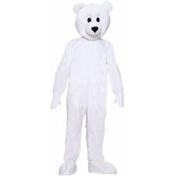 Polar Bear Plush Economy Mascot Adult Costume