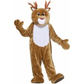 Reindeer Plush Economy Mascot Adult Costume