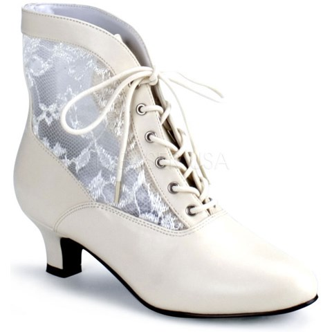 Victorian Adult Boots Ivory