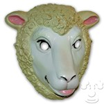 Sheep Mask, Plastic Child Size