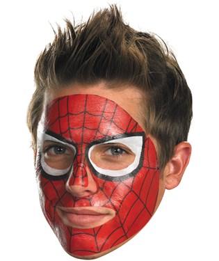 Spider-Man Face Tattoo