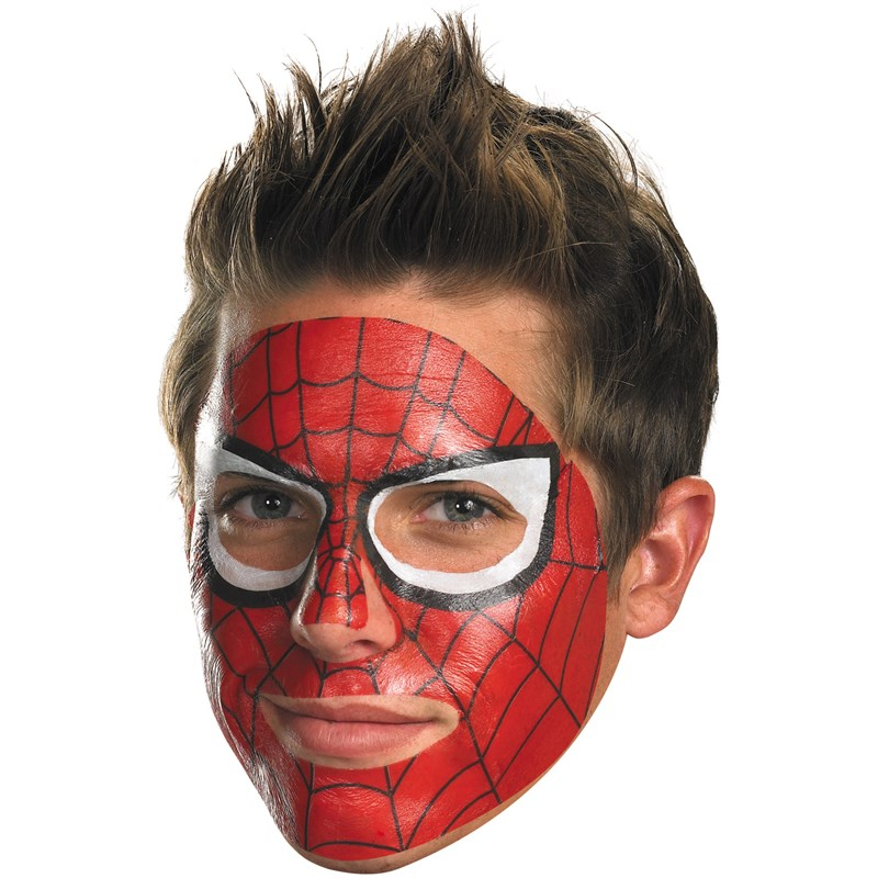 Spider Man Face Tattoo for the 2015 Costume season.