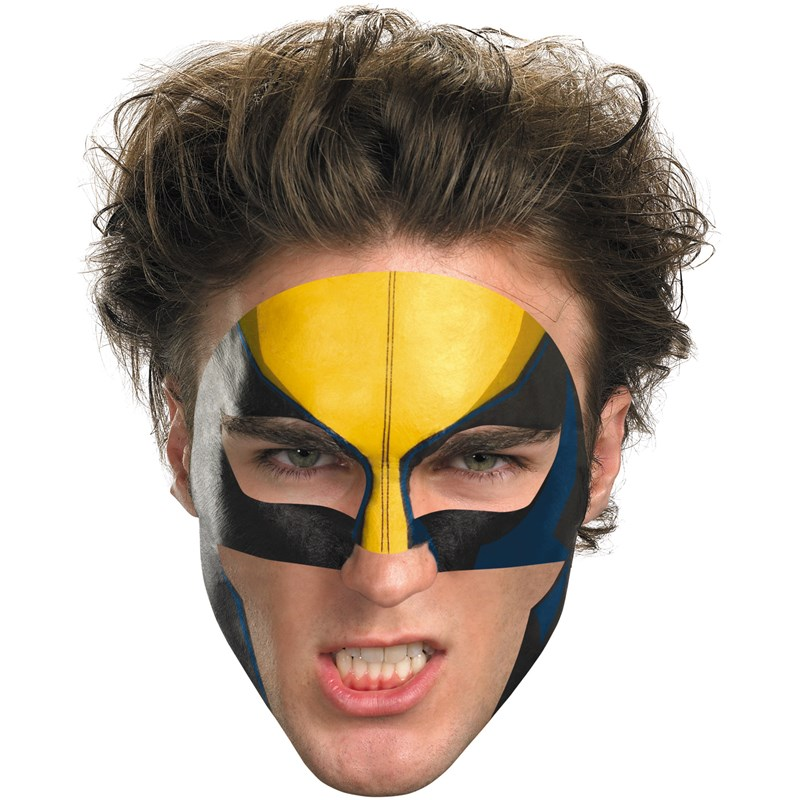 Wolverine Face Tattoo for the 2015 Costume season.