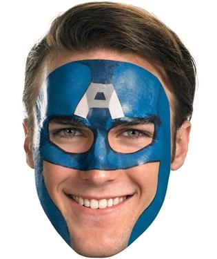 Captain America Face Tattoo