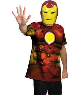 Iron Man Shirt And Mask Adult Costume