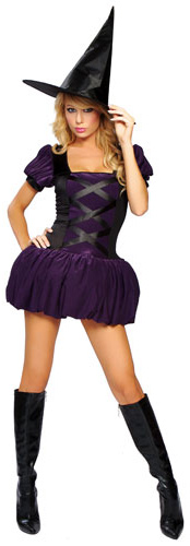 Roma Costumes Adult Sexy Sorceress Adult Costume- Purple: Small/Medium