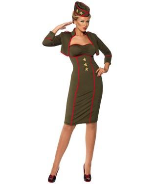 Retro Army Girl Adult Costume