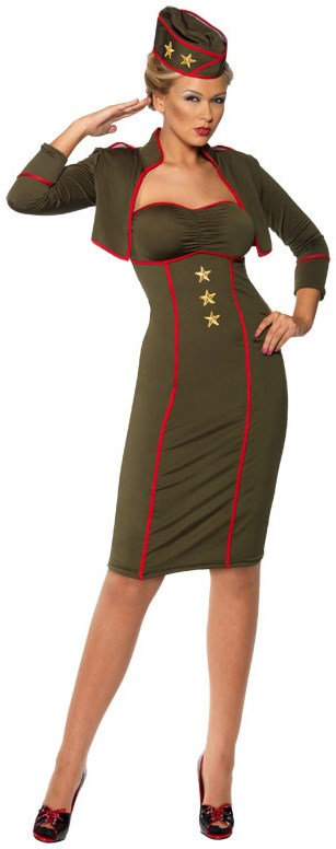 Retro Army Girl Adult Costume