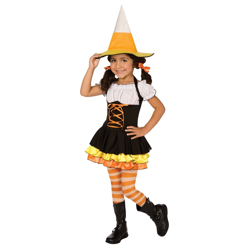 Little Candy Corn Witch Toddler  and  Child Costume for the 2015 Costume season.