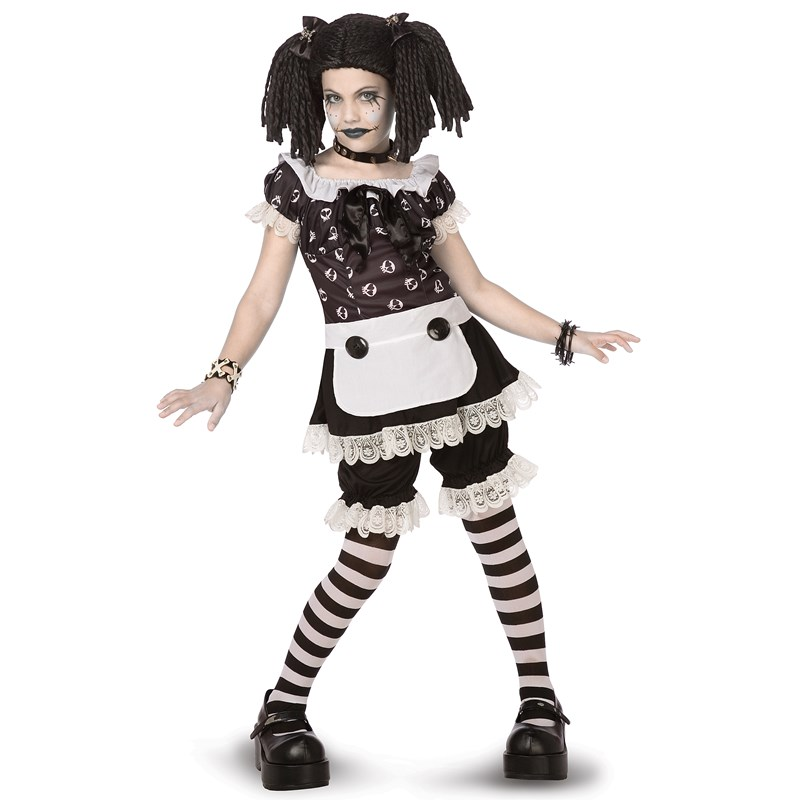 Gothic Rag Doll Child and Tween Costume for the 2015 Costume season.
