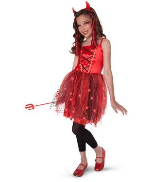 Dazzling Devil Light-Up Child/Tween Costume