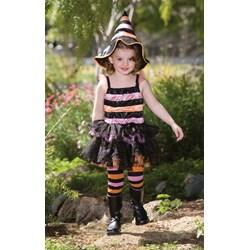 Striped Witch Child Costume