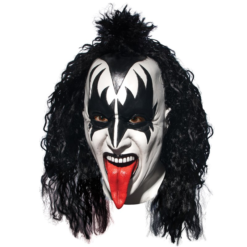 KISS Demon Deluxe Latex Full Mask With Hair (Adult) for the 2015 Costume season.