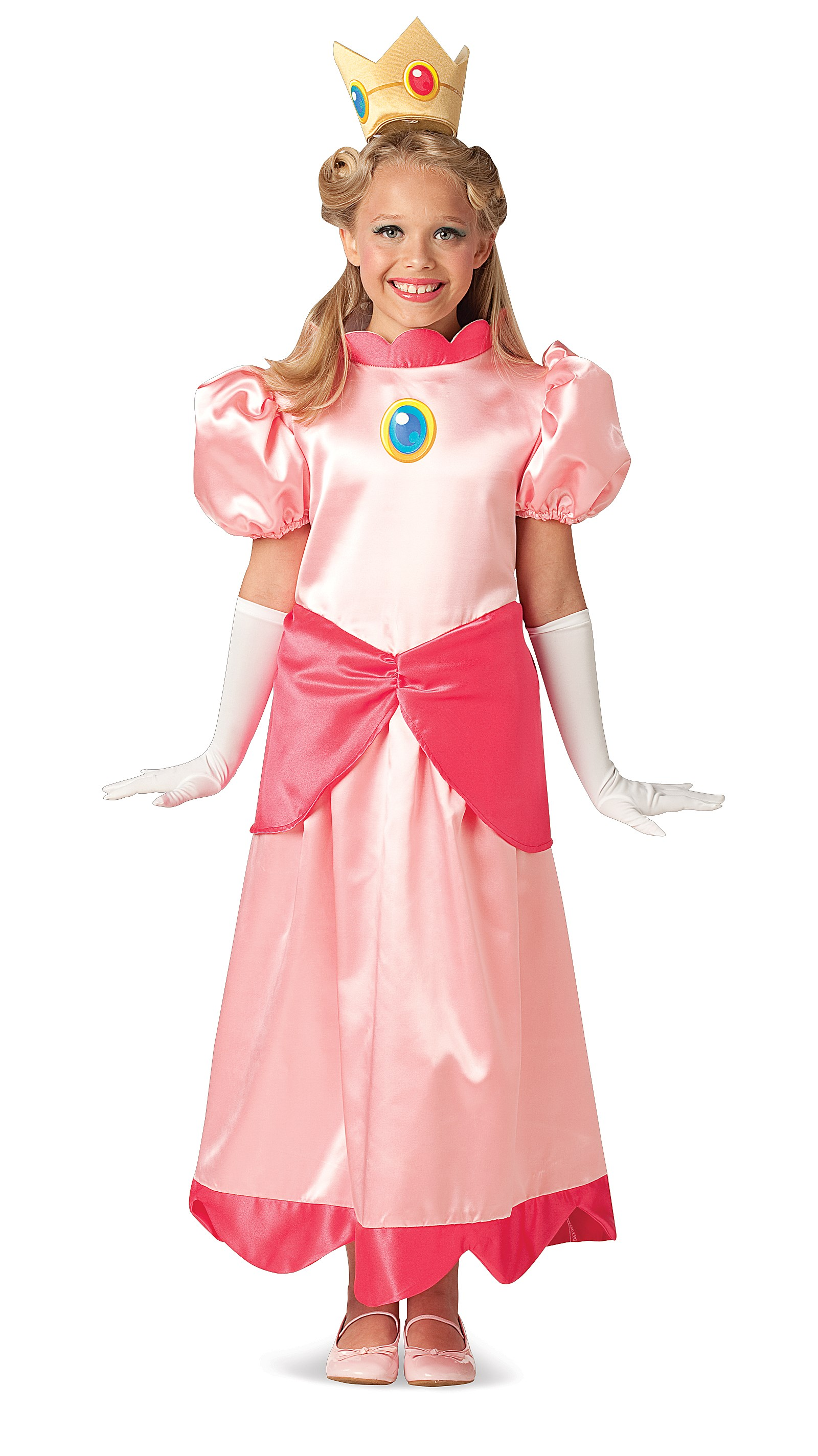 Super Mario Deluxe Princess Peach Child Costume