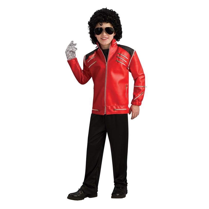 Halloween Costumes Michael Jackson Deluxe Red Zipper Jacket Child