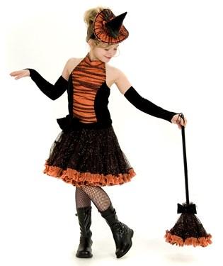 Orange Tutu Witch Child Costume