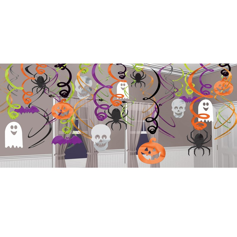 Halloween Hanging Swirl Decorations (30 pack) for the 2015 Costume season.