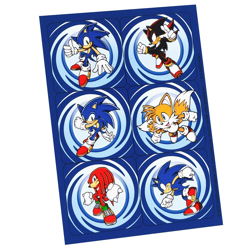 Sonic the Hedgehog Stickers (4 count) for the 2015 Costume season.