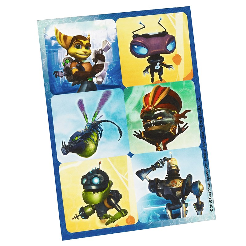 Ratchet and Clank Sticker Sheets (4 count) for the 2015 Costume season.