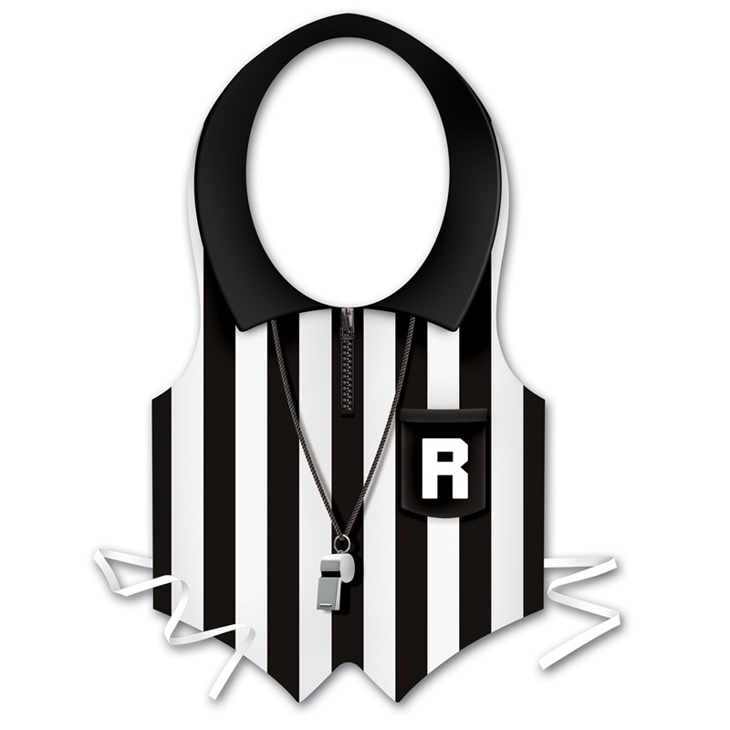 Plastic Referee Vest for the 2015 Costume season.