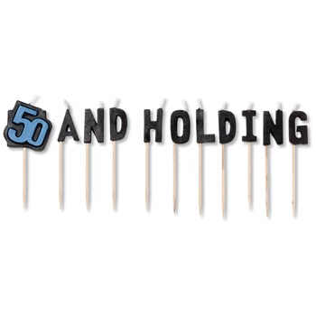50 and Holding Pick Candles (11 count)