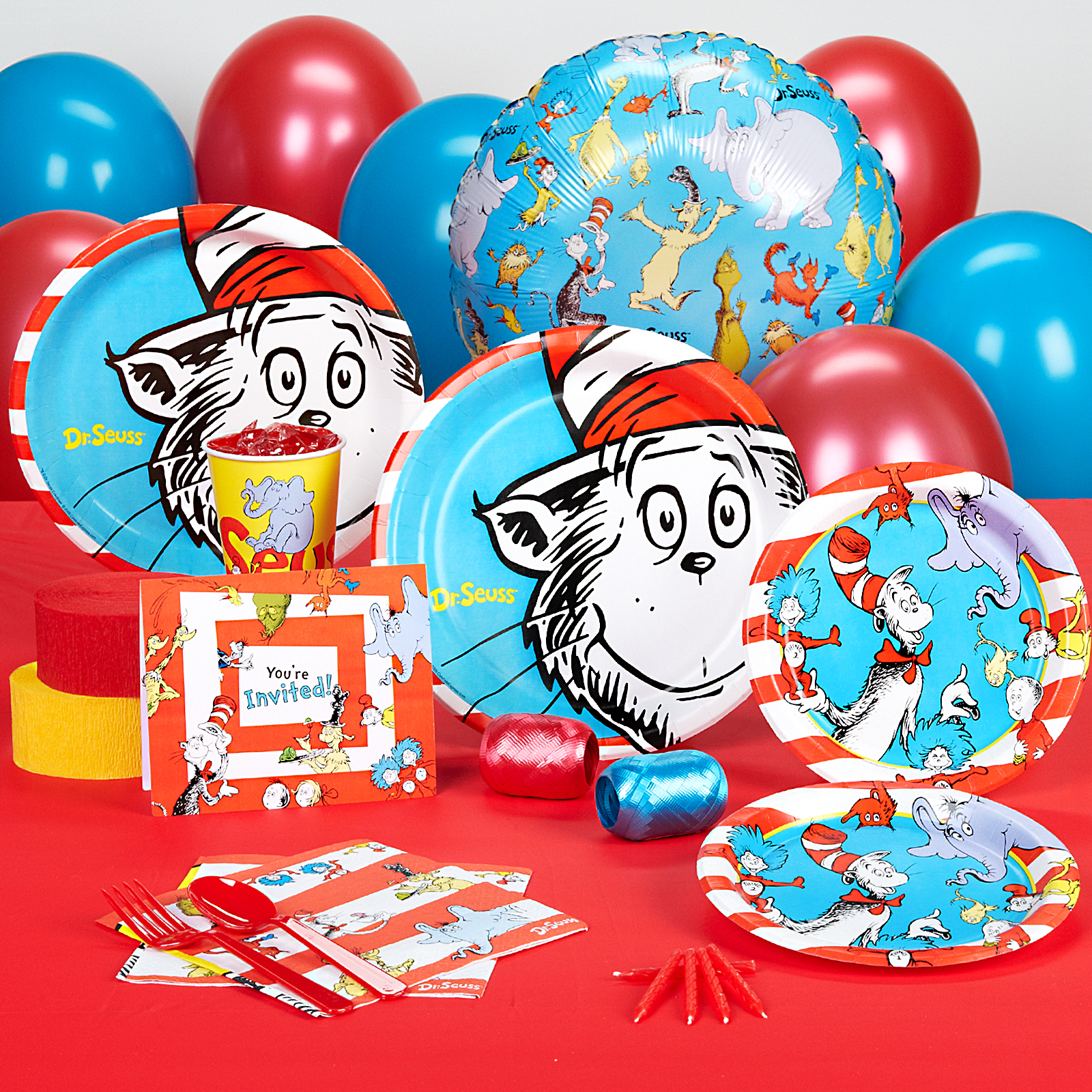 Dr Seuss Standard Party Pack for 8 | eBay