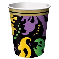 Mardi Gras Magic 9 oz. Paper Cups (8 count)