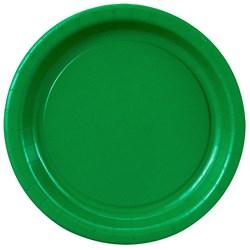 Emerald Green (Green) Dessert Plates (24 count)