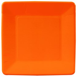 Sunkissed Orange (Orange) Square Dinner Plates (18 count)