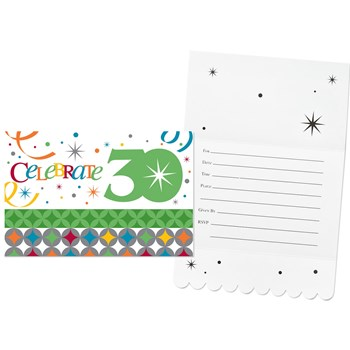 Celebrate In Style 30 Invitations (8 count)