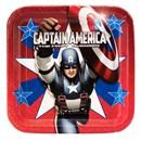 Captain America - Square Dinner Plates (8 count)