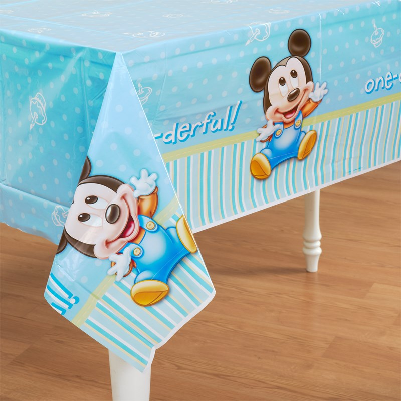 Disney Mickeys 1st Birthday Plastic Tablecover for the 2015 Costume season.