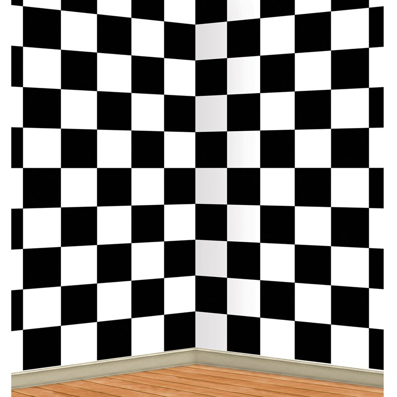 Black and White Checkered Backdrop for the 2015 Costume season.