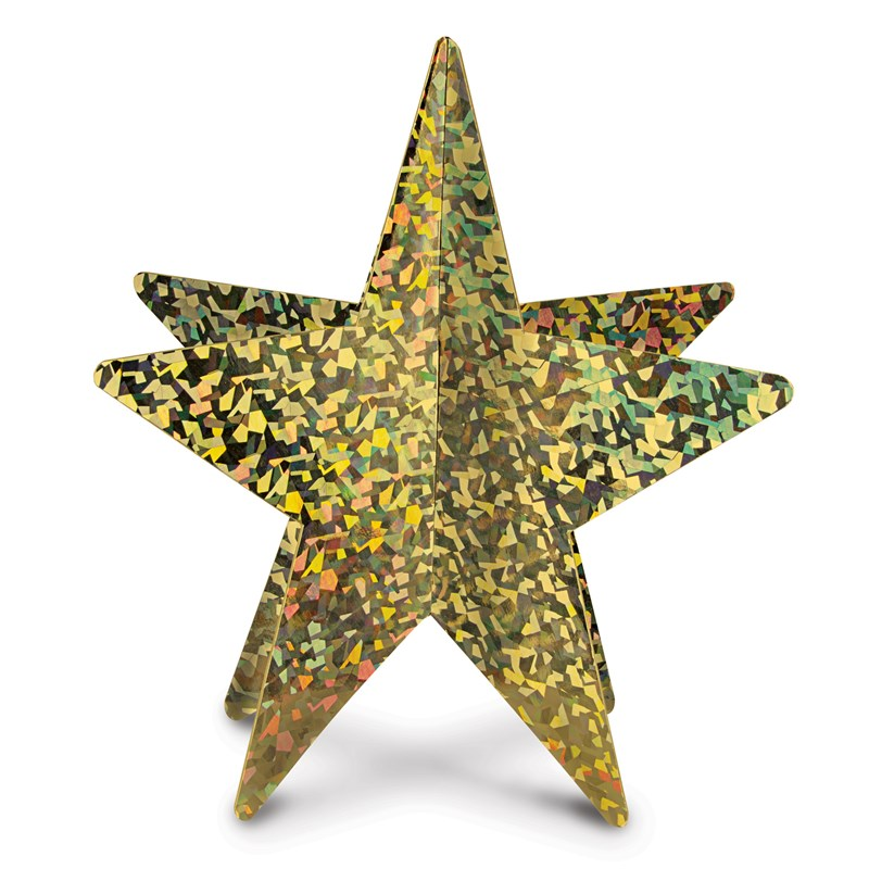 Gold 3D Prismatic Star Centerpiece for the 2015 Costume season.