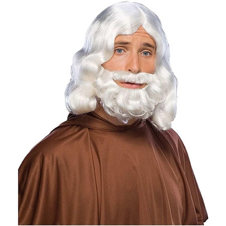 Short White Beard and Moustache Adult
