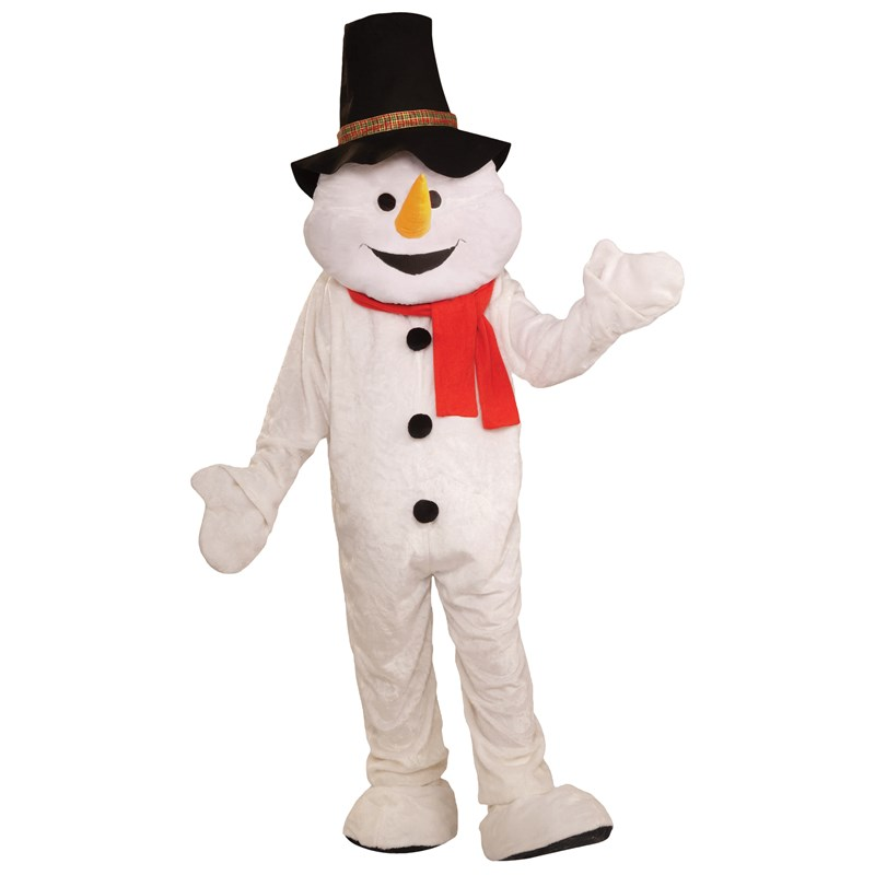 Snowman Plush Economical Mascot Adult Costume for the 2015 Costume season.