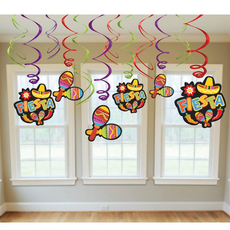 Fiesta Value Pack Hanging Swirl Decorations for the 2015 Costume season.
