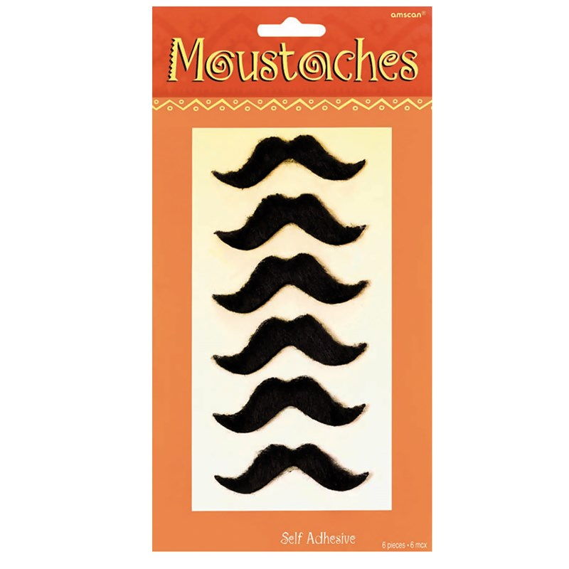 Fiesta Moustaches (6 count) for the 2015 Costume season.