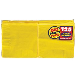 Yellow Sunshine Big Party Pack - Lunch Napkins (125 count)