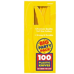 Yellow Sunshine Big Party Pack - Knives (100 count)