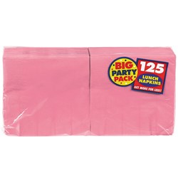 New Pink Big Party Pack - Lunch Napkins (125 count)