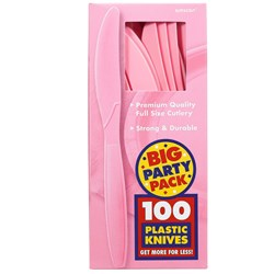 New Pink Big Party Pack - Knives (100 count)