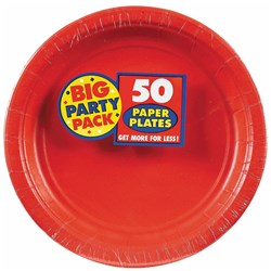 Apple Red Big Party Pack - Dessert Plates (50 count)
