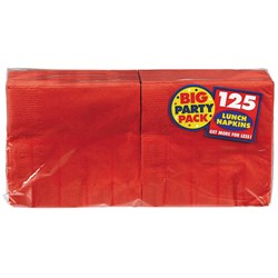 Apple Red Big Party Pack - Lunch Napkins (125 count)
