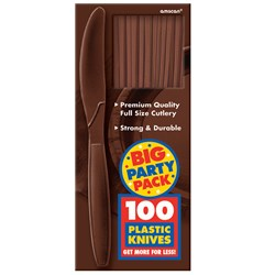 Chocolate Brown Big Party Pack - Knives (100 count)