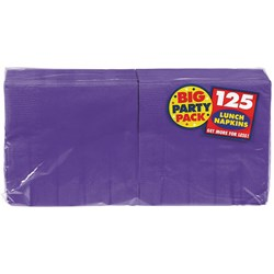 New Purple Big Party Pack - Lunch Napkins (125 count)