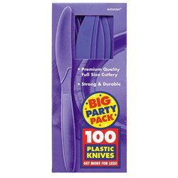 New Purple Big Party Pack - Knives (100 count)