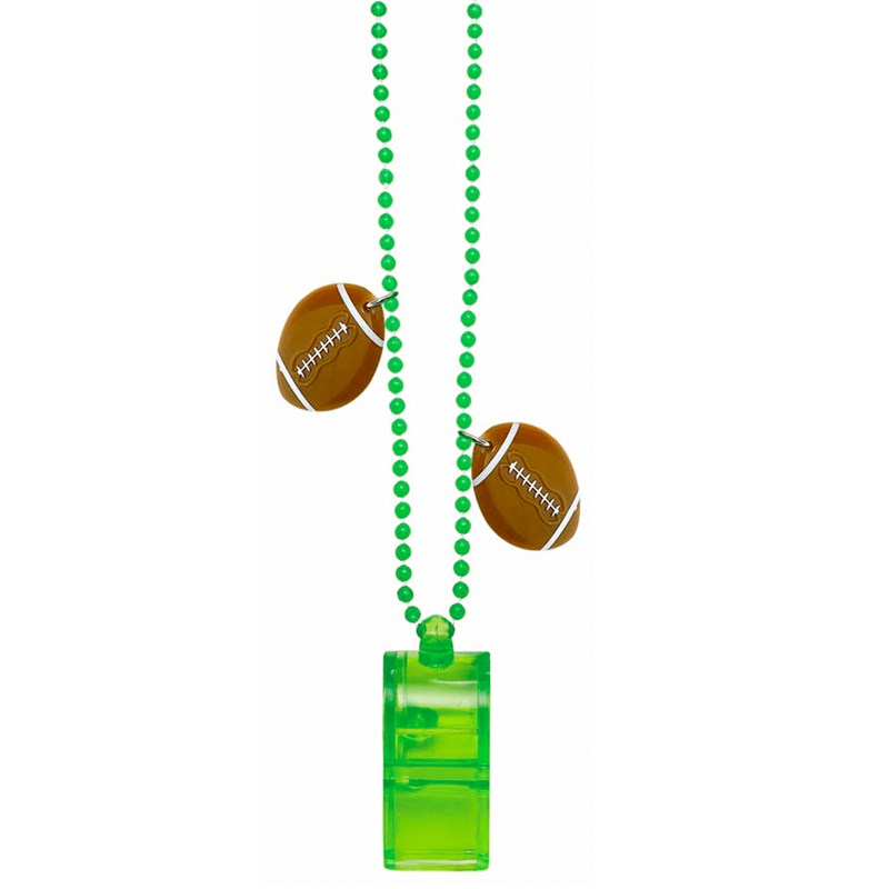 Football   Bead Necklace Chain with Whistle for the 2015 Costume season.
