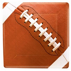 Football Fan - Square Dessert Plates (8 count)