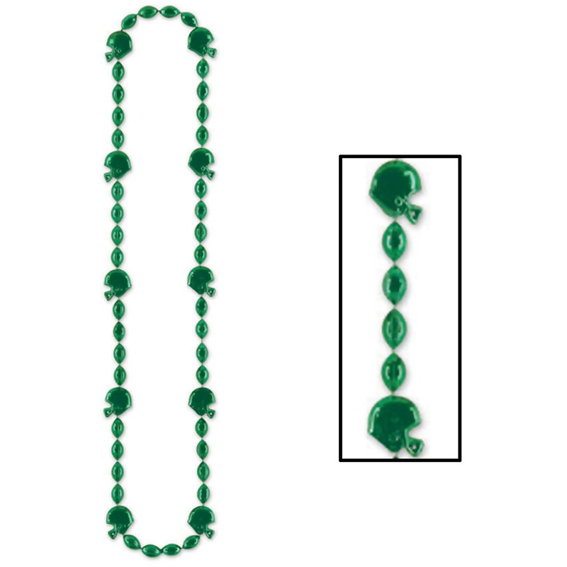 Football Beads   Green for the 2015 Costume season.